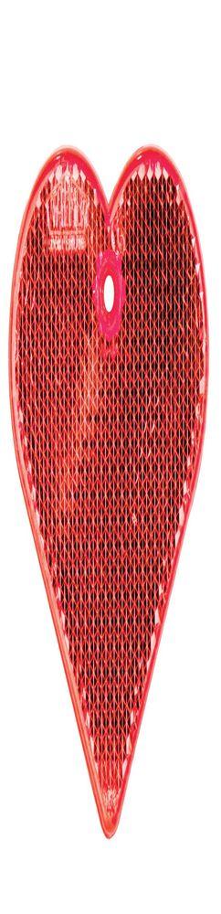 Пешеходный светоотражатель «Сердце», красный фото