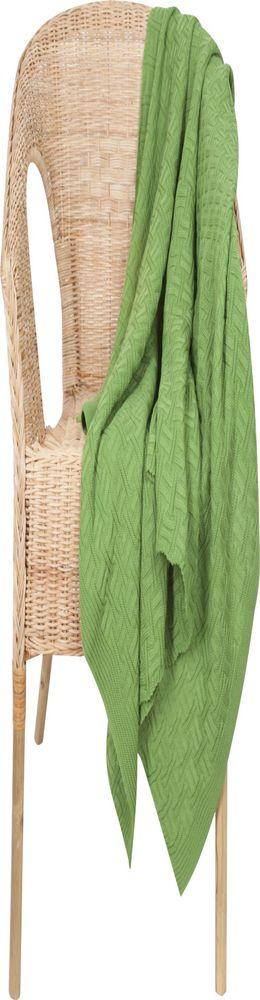 Плед Basket, зеленый фото