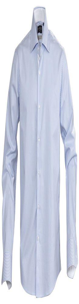Рубашка мужская в полоску RENO, голубая фото