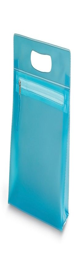 """Косметичка  """"AQUARIUM"""",  ПВХ, 24x22x7,5 см, синий фото"""