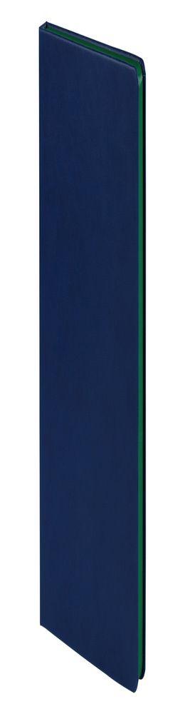 Ежедневник Blues недатированный, синий с зеленым фото