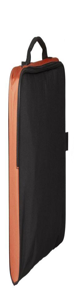 Сумка для документов Unit College, черная с оранжевым фото