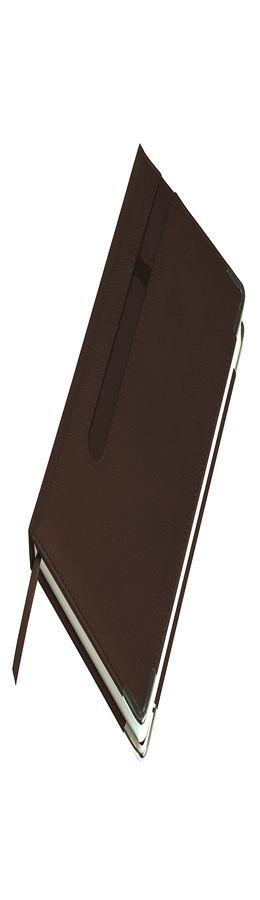 Ежедневник недатированный ASTON, А5,  коричневый, белый блок, без обреза фото
