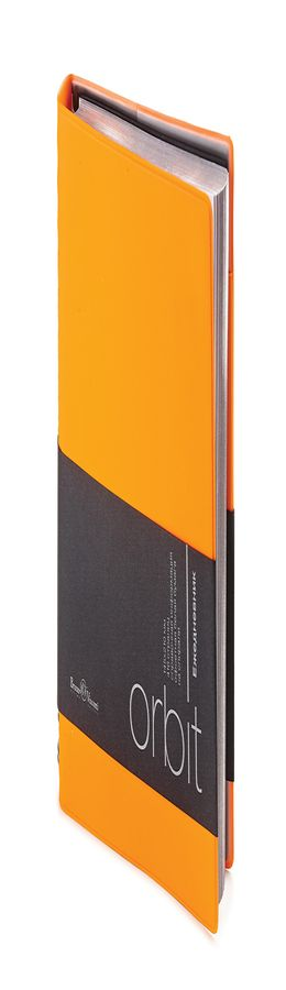 Ежедневник полудатированный Orbit, А5, оранжевый фото