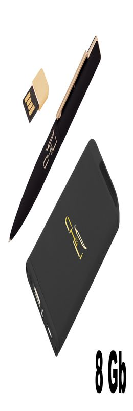 "Набор ручка ""Callisto"" c флеш-картой 8Гб + зарядное ""Theta"" 4000 mAh в футляре, покрытие soft touch фото"