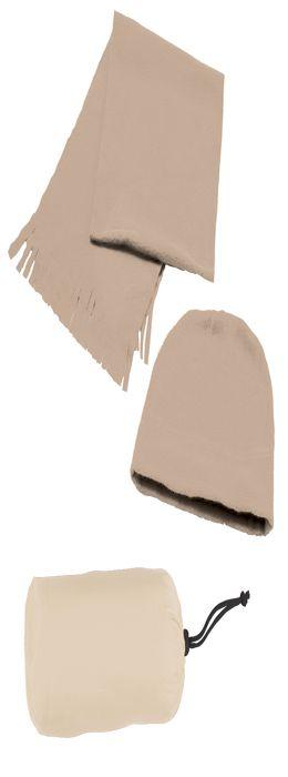 """Флисовый набор """"Winter"""" шапка и шарф в чехле фото"""