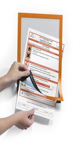 488209 Рамка информационная самоклеящаяся DURAFRAME A4 оранжевая фото