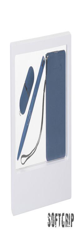 """Подарочный набор """"Камень"""" с покрытием soft grip на 3 предмета, синий фото"""