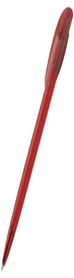 Ручка шариковая GOLF LX, прозрачный красный, пластик фото