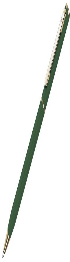 SLIM, ручка шариковая, зеленый/золотистый, металл фото