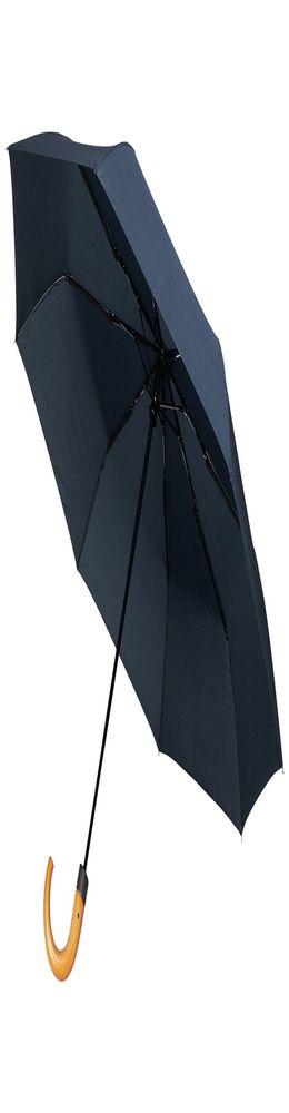 Складной зонт Unit Classic, темно-синий фото