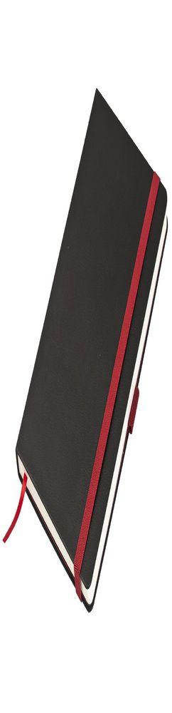 Ежедневник недатированный, Portobello Trend, Chameleon, для лазерной гравировки, 145х210, 256 стр, черный/красный (светлый форзац, темная резинка) фото