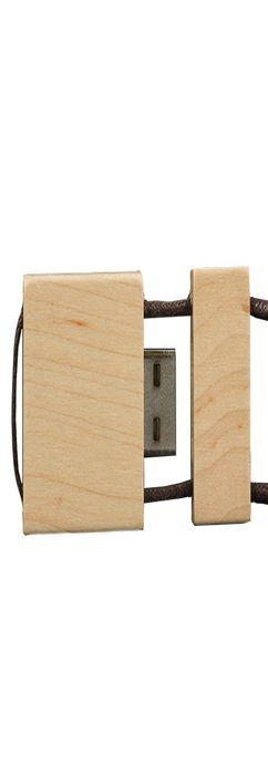 Флешка Брусок со шнурком, деревянная, 16Гб фото