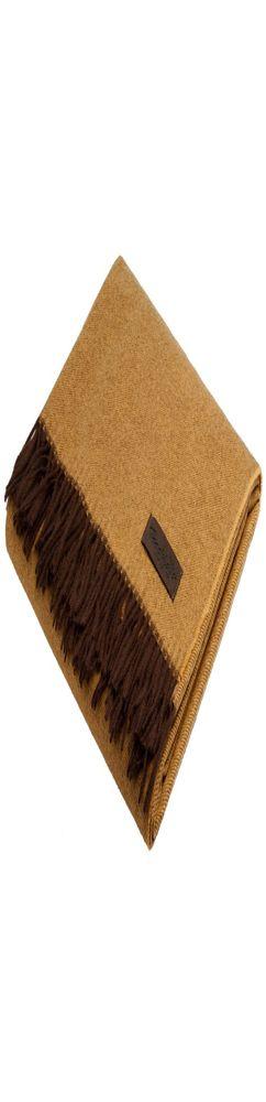 Плед Ermes, желто-коричневый фото