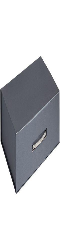 Коробка Case, подарочная, темно-серебристая фото