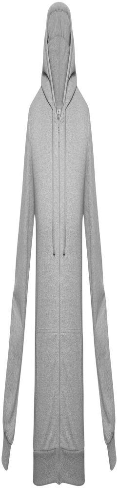 Толстовка на молнии с капюшоном Unit Siverga, серый меланж фото