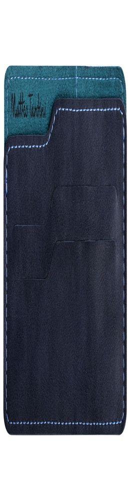 Чехол для карточек Roma, сине-бирюзовый фото