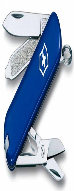 Нож-брелок Classic 58 с отверткой, синий фото