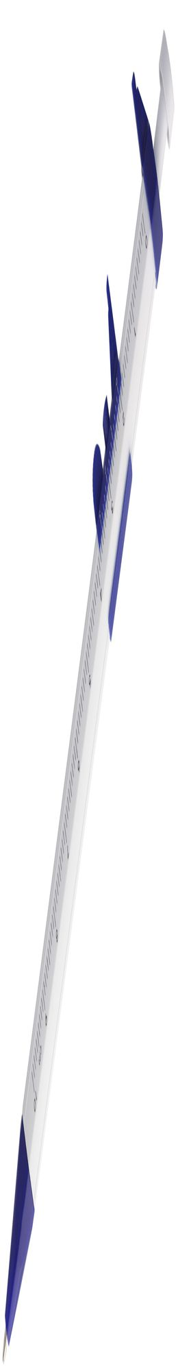 Ручка шариковая «Штангенциркуль», белая с синим фото