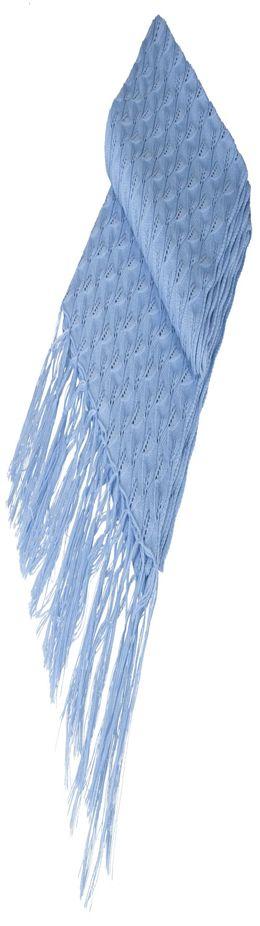 Палантин «Нежные листья», голубой фото