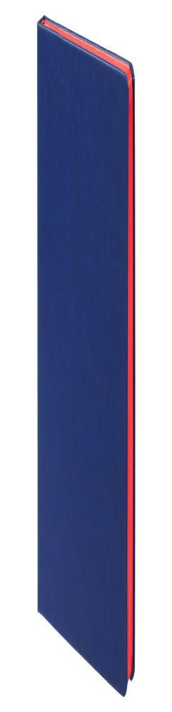Ежедневник Blues недатированный, синий с красным фото