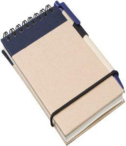 """Блокнот """"Zuse"""" на 40 листов с шариковой авторучкой, синий фото"""