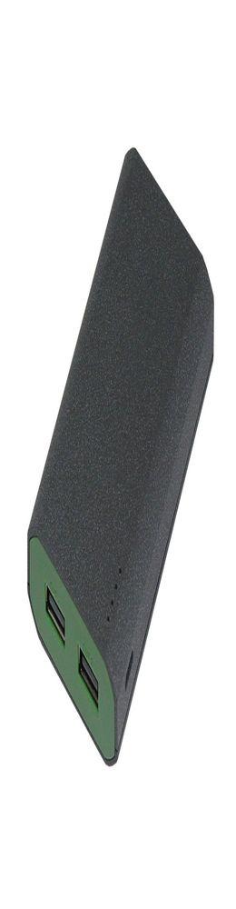 Внешний аккумулятор, Stone Island PB, 7800 mAh, пластик, 95х59х22 мм, 173 гр, т.-серый/зеленый, подарочная упаковка фото