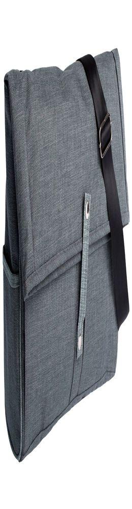 Сумка для ноутбука 2 в 1 twoFold, серая с темно-серым фото
