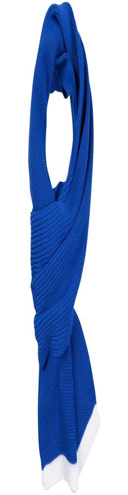 Шарф Amuse, синий с белым фото