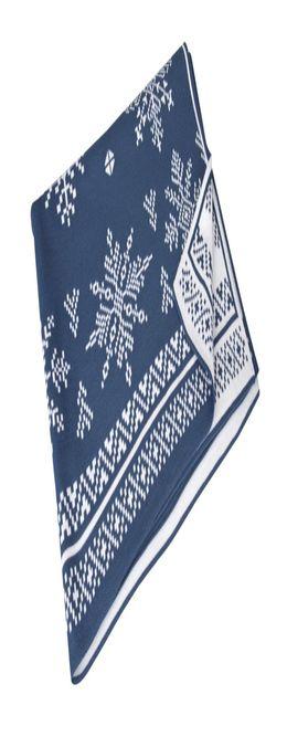 Плед «Снежинки», синий (индиго) фото