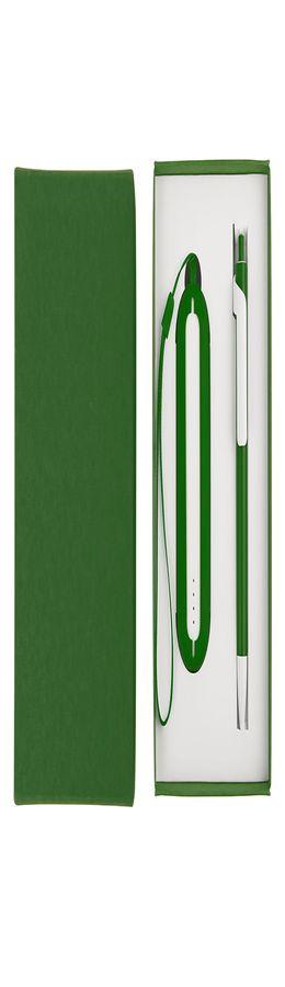 Набор SEASHELL-1: универсальное зарядное устройство, ручка, зеленый  фото