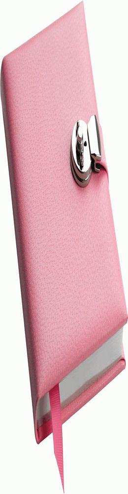 Записная книжка Pink с замочком, розовая фото
