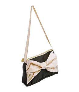 Складной зонт Gianfranco Ferre (Джанфранко Ферре) черный в футляре в виде дамской сумочки с бантом фото
