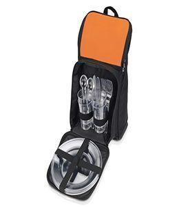 Рюкзак для пикника с термоизоляцией и набором посуды на 2 персоны фото