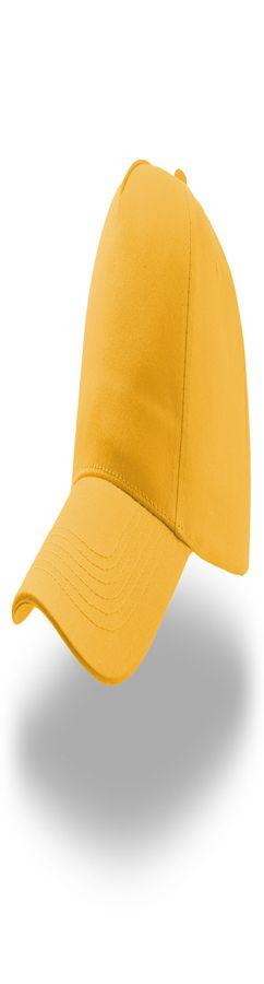 """Бейсболка """"START FIVE"""",   застежка на липучке; желтый; 100% хлопок; твил, плотность 160 г/м фото"""