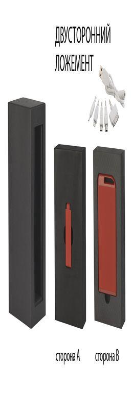 """Набор зарядное устройство """"Theta"""" 4000 mAh + флеш-карта """"Case"""" 8Гб  в футляре, покрытие soft touch фото"""