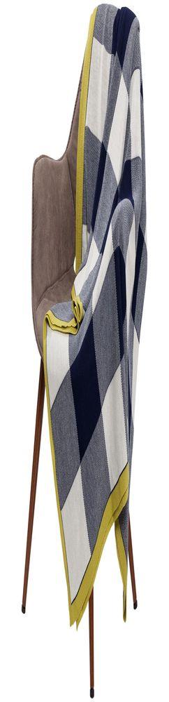 Плед Dialist, синий с белым фото