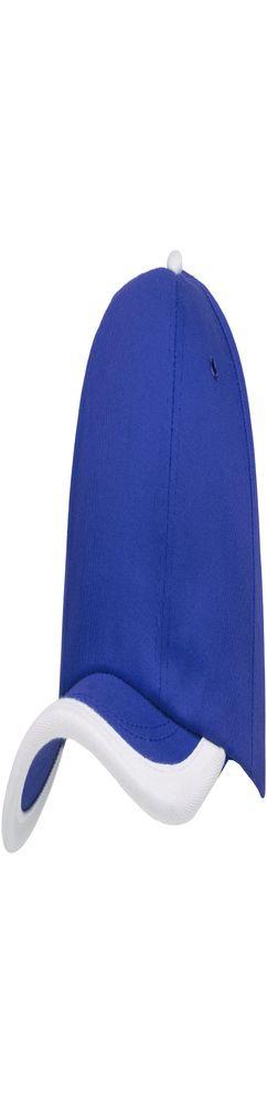 Бейсболка Bizbolka Honor, ярко-синяя с белым кантом фото
