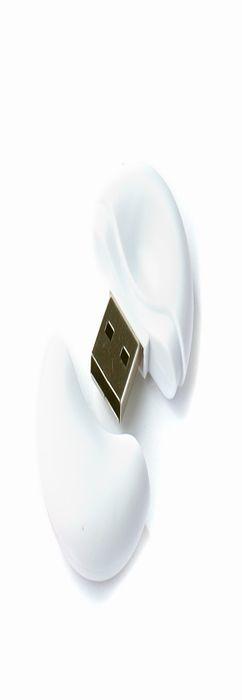 Флешка Таблетка круглая, пластиковая, софт-тач, белая, 4Гб фото