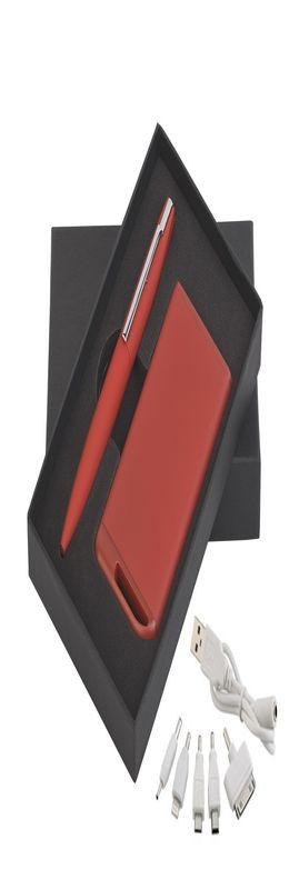 Набор ручка c флеш-картой 8Гб + зарядное устройство 4000 mAh в футляре, покрытие soft touch фото