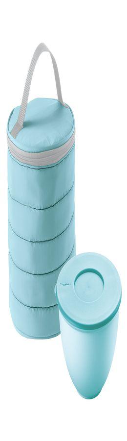 Набор термосумка+контейнер handy круглый голубой фото