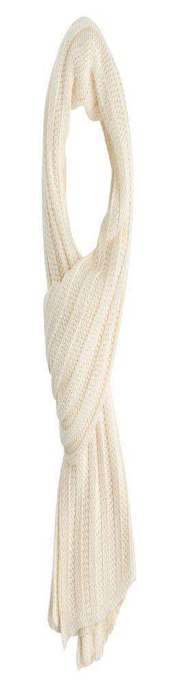 Шарф Chain, молочно-белый фото