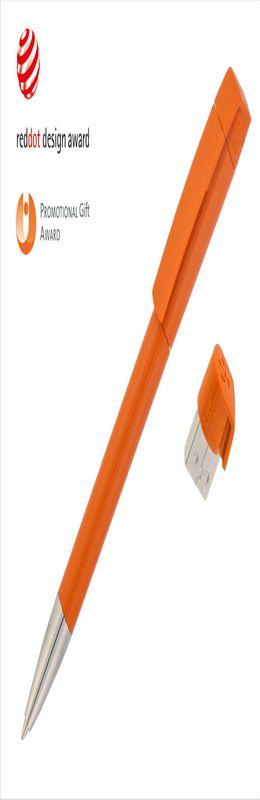 Авторучка с флеш-картой USB 8GB «TURNUS M», оранжевый фото