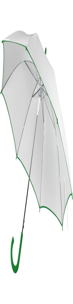 Зонт-трость Unit White, белый с зеленым фото