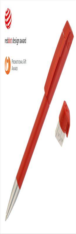 Авторучка с флеш-картой USB 8GB «TURNUS M», красный фото
