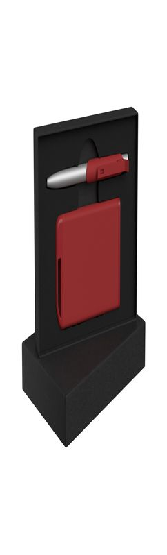 "Набор ручка ""Skil"" + зарядное устройство 4000 mAh в футляре, покрытие soft touch фото"