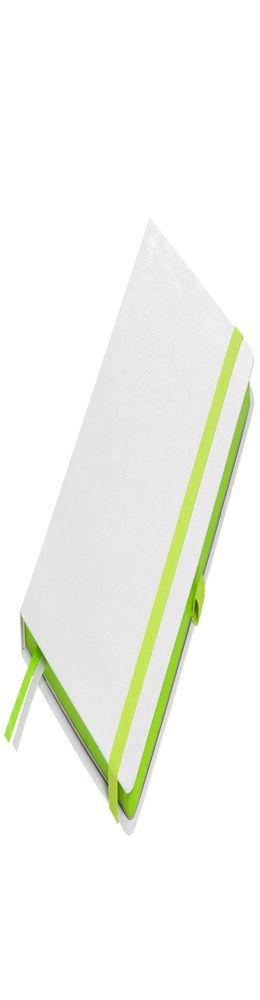 Ежедневник недатированный Portobello Trend, Arctic NEW, белый с зеленым фото