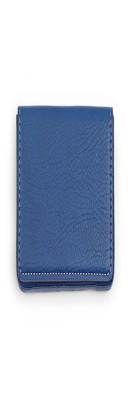 Визитница Magnete, искусственная кожа, синий/серый фото