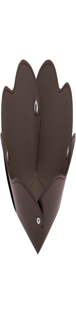 Корзина Corona, большая, коричневая фото