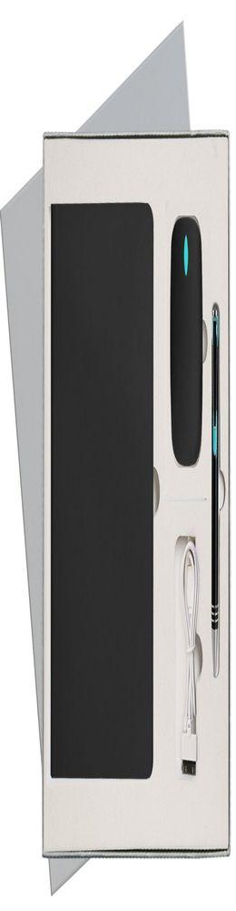 Подарочный набор Portobello/Sky черный (Ежедневник недат А5, Ручка, Power Bank) фото